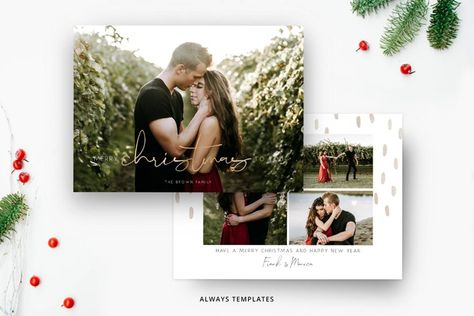 Christmas Card Template CC091 (934241) | Card and Invites | Design Bundles