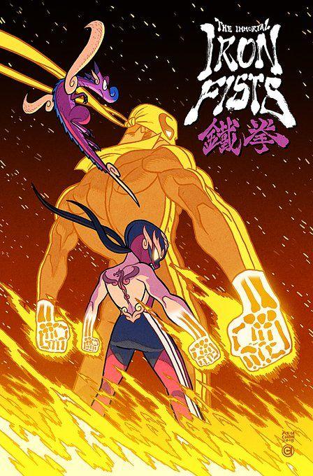 """Immortal Iron Fists exclusive book jacket for TCAF! Character Concept, Character Art, Concept Art, Iron Fist Marvel, Superhero Design, Marvel Art, Character Design Inspiration, Comic Artist, Comic Books Art"
