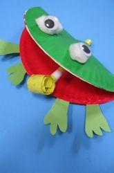 Frog Craft - Paper Plate Craft - basteln mit Papptellern - Frosch