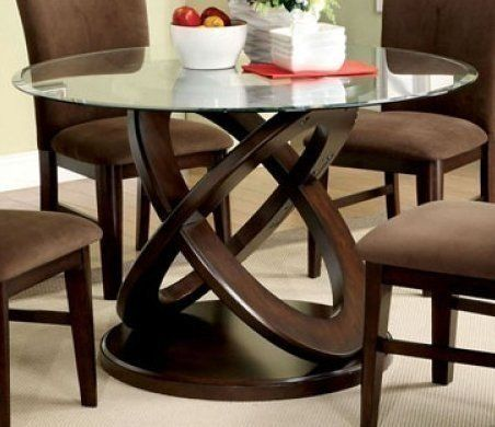 Glass Top Dining Tables With Wood Base For 2020 Ideas On Foter Glass Top Dining Table Oval Table Dining Dining Table Bases