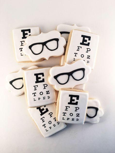 Eye Doctor Glasses cookies ~ Custom Sugar Cookies ~ priced per dozen! by SugarChicDesign on Etsy https://www.etsy.com/listing/586606847/eye-doctor-glasses-cookies-custom-sugar