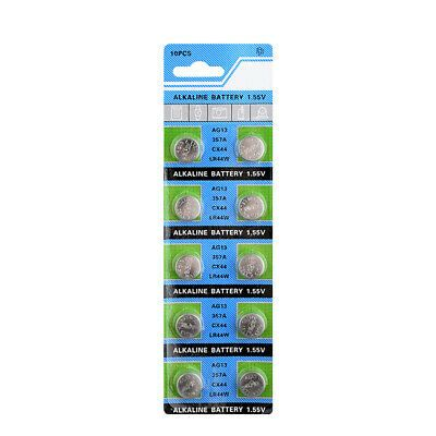Sponsored 1 5v 10pcs Sr44 A76 L1154 Ag13 357 Lr44 Key Alkaline Coin Button Cell Batteries In 2020 Alkaline Battery Button Cell Alkaline