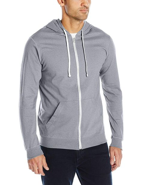 Fruit of the Loom Men's Jersey Full Zip Hoodie | Full zip
