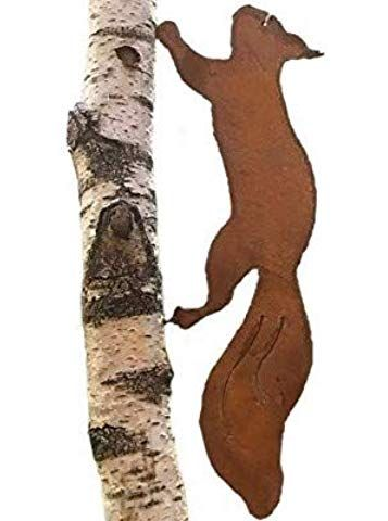 Nostalgic Garden Gartendeko Gartenstecker Eichhornchen Edelrost Baumstamm Rost Deko Design Amazon De Garten Garden Art Sculptures Iron Wall Decor Wooden Art