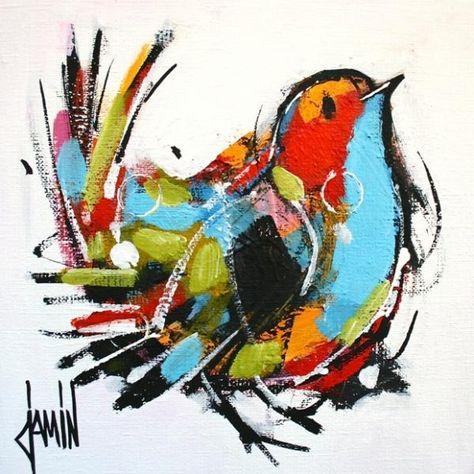 Peinture David Jamin Vive Le Printemps Peinture Oiseau