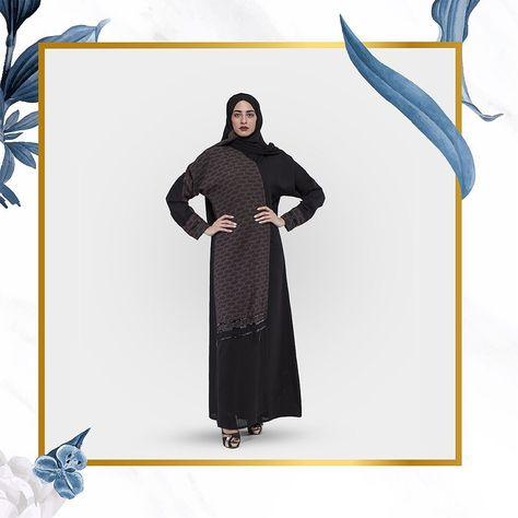 عباية كلاسيكية بقماش ملكي وشاكير وكم ضي ق وقفلة لف مع إضافة شك على الاكمام وفي الأسفل رقم العباية 1007 Shopping Coupons Abaya Online Quality Clothing
