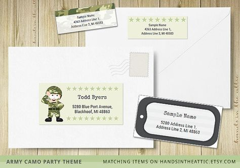 Editable labels army theme printable template military dog tag - mailing address labels template