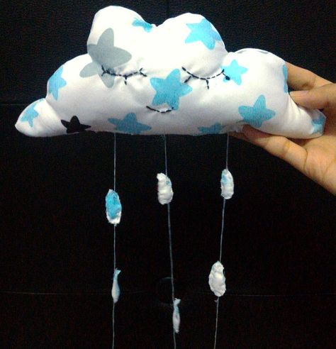 17 ide beserta cara membuat hiasan dinding bantal awan