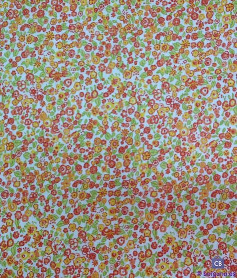 Tela de Mantel Resinado Antimanchas Florecillas Pequeñas. Mezcla Algodón/Poliester resinado y teflonado Ancho 150 cm.