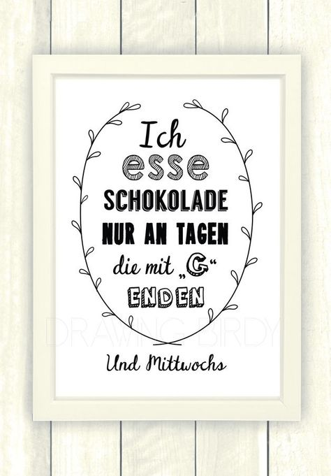 Typo/Druck Schokolade // poster/print chocolate by Drawing Bird via DaWanda.com