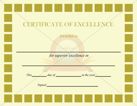 Excellence Award Certificate Template Free and Premium - award certificate template