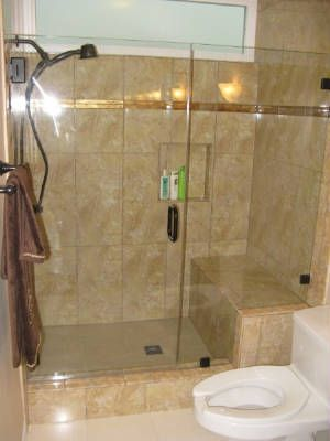 shower bench tile images   Two-person shower with seat & tile detail ...