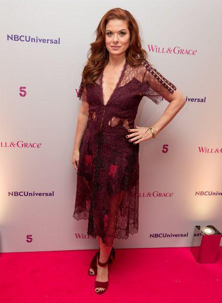 Debra Messing from 'Will & Grace' attends a BAFTA screening.