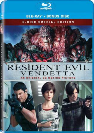 Resident Evil Vendetta 2017 Brrip 300mb Hindi Dual Audio Org 480p