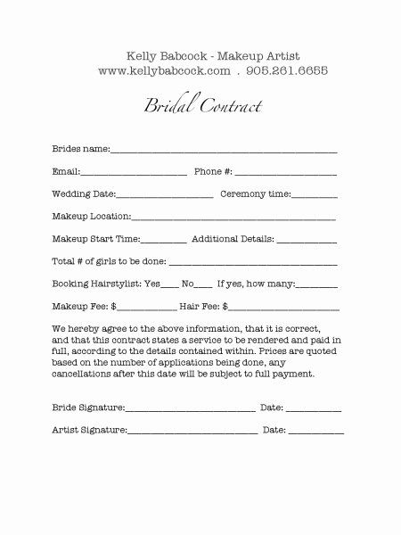 Free Wedding Hair And Makeup Contract Template Pdf Sample In 2021 Wedding Hair And Makeup Freelance Makeup Freelance Makeup Artist