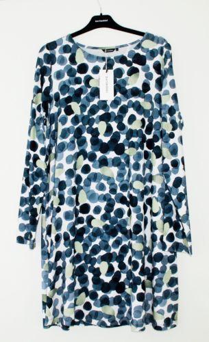 Marimekko Finland Ellis Mustikkamaa Viscose tricot dress XL