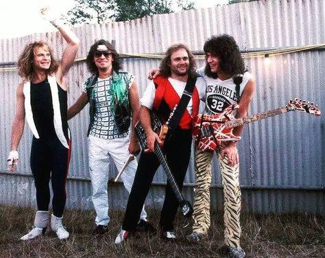 Van Halen ❤️ 1984 Eddie and Alex Van Halen David Lee Roth and Michael Anthony Alex's smile