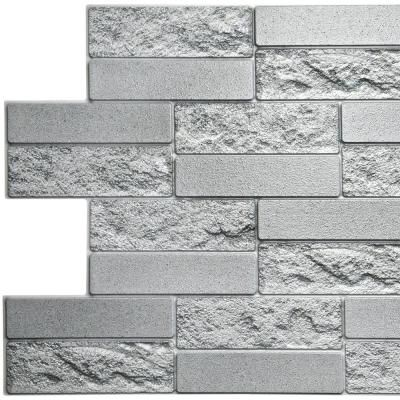 Dundee Deco 3d Falkirk Retro 10 1000 In X 39 In X 19 In Grey Faux Cement Brick Pvc Wall Panel Tp10019927 The Home Depot Vinyl Wall Panels Interior Wall Design Pvc Wall Panels