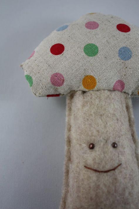 THIS is adorable! Baby Mushroom Rattle/Toy! How cute