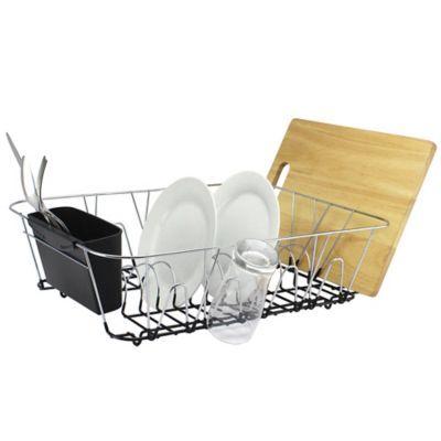 Org Large Dish Rack In Chrome Bed Bath Beyond Dish Racks
