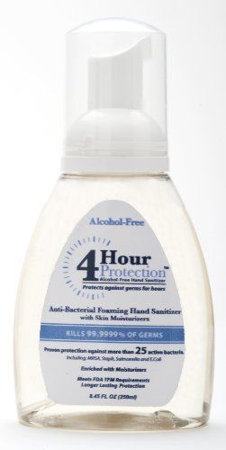 4 Hour Protection Moisturizing Hand Sanitizer Foam Pump 8 Ounce