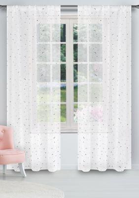 Luna Print Window Curtain Set Curtains Elegant Living Room