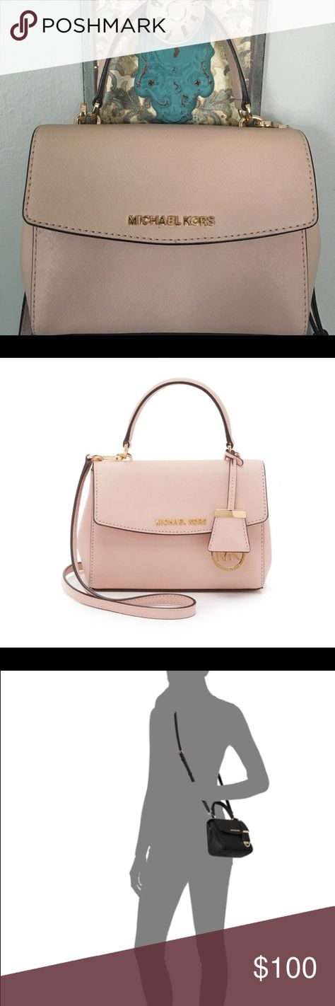 95468db04f8c84 Michael Kors small Ava crossbody Signature Saffiano leather lends structure  and style to this fabulously feminine