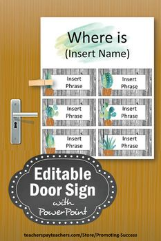 This Printable And Editable Office Door Sign Is Perfect For A Professional Business Or Classroom Gift Idea You May Pe Office Door Signs Door Signs Office Door