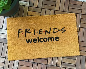 Friends Tv Show Gifts Friends Gift Welcome Mat Unique Gifts