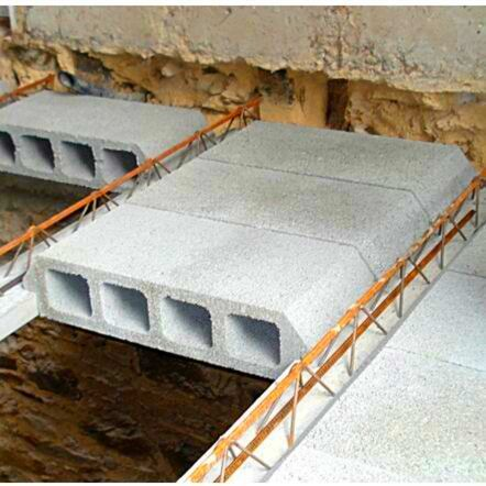 How To Use Concrete Hourdis Block Build House Roof House Roof Building A House Interlocking Bricks