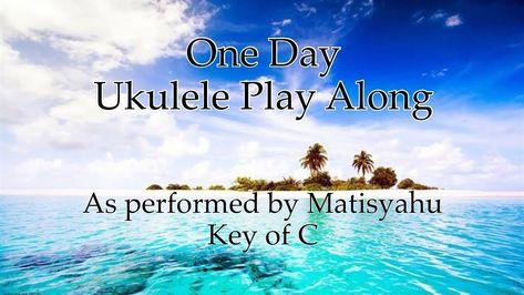 One Day Ukulele Play Along (C, F, G, Am chords) | Ukulele Fun! в 2019 г