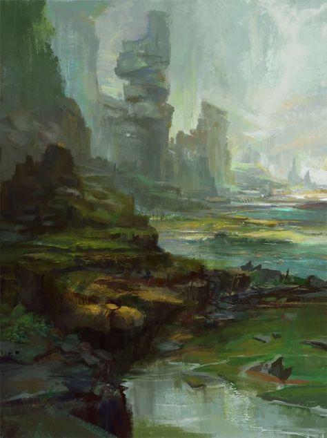 supernatura plain, 王 正元 on ArtStation at https://www.artstation.com/artwork/b5lo