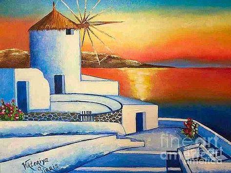 Unforgettable Santorini by Viktoriya Sirris