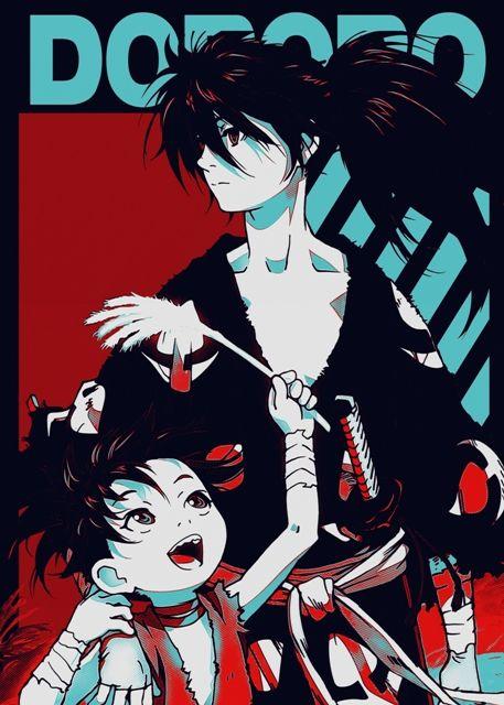 Dororo Metal Poster Print Fujiwara Displate In 2020 Poster Prints Manga Covers Anime Wall Art