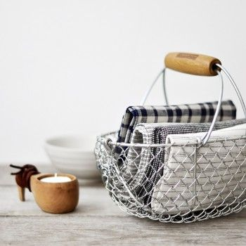 wire basket for towels