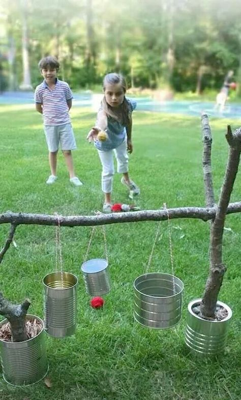 Juego de jardín atina al bote | Juegos para niños al aire ...