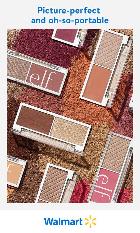 Each e.l.f. Bite-Size Duo pairs matte and shimmer shades of highlighter and blush for a natural, cheeky glow. This versatile value is perfectly sized for the woman on-the-go, and it's available exclusively at Walmart.