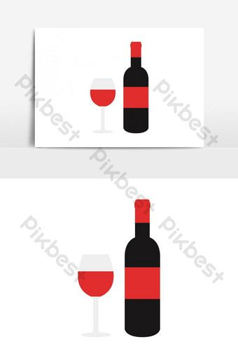 Wine Bottle Icon Vector Graphic Element Png Images Eps Free Download Pikbest Wine Bottle Template Wine Bottle Wine