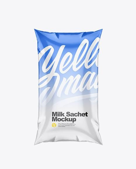 Psd Milk Pouch Mockup Milk Sachet Mockup In Bag Sack Mockups On Yellow Images Object Mockup Mockup Free Psd Bag Mockup