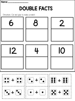 Doubles And Doubles Plus One Worksheets First Grade Math