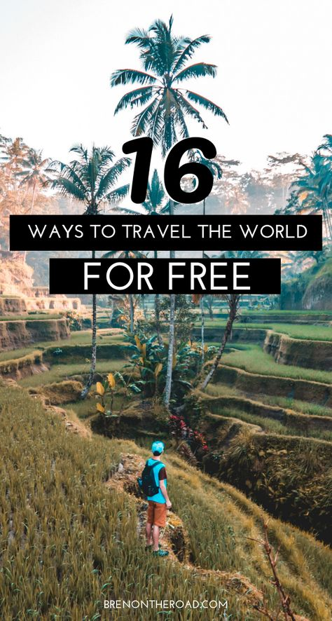 16 ways to travel the world for free! budget travel, how to travel the world for free, how to travel the world on a budget, travel jobs, how to get a travel job, work and travel