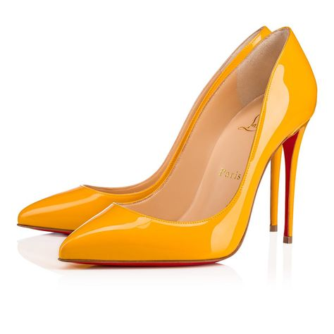 3aaf77e3d4d2 Pigalle Follies 100 Topaz Patent Leather - Women Shoes - Christian Louboutin
