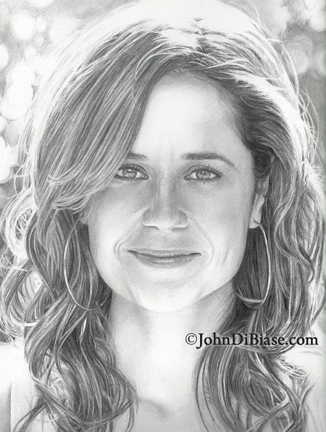 Drawing Print of Jenna Fischer (Star of TV show The Office)