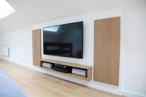 Kast Onder Tv.Ingebouwde Tv Kast Onder Schuin Dak Interieur Ontwerpen Ontwerp