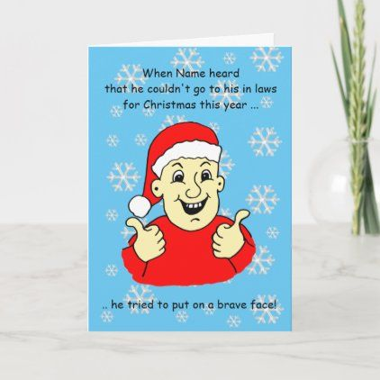 Funny Cartoon Lockdown Male In Laws Christmas Card Law Christmas Custom Holiday Card Christmas Cards