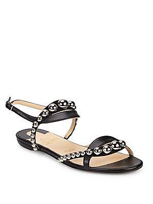 0c031820e62 Christian Louboutin Galleria Leather Stud Flats | Shoes I love ...