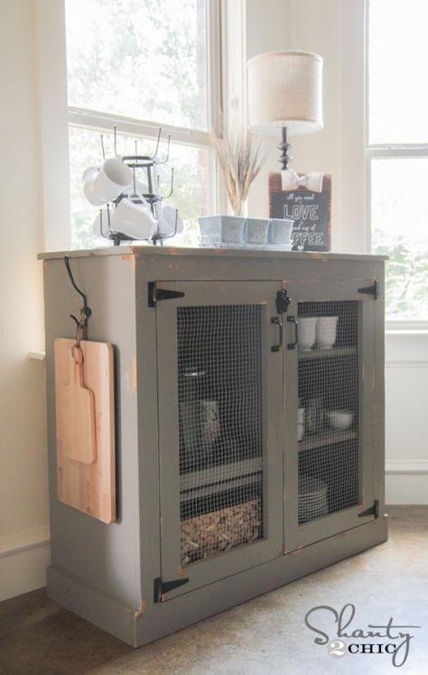 DIY Farmhouse Cabinet by Shanty2Chic