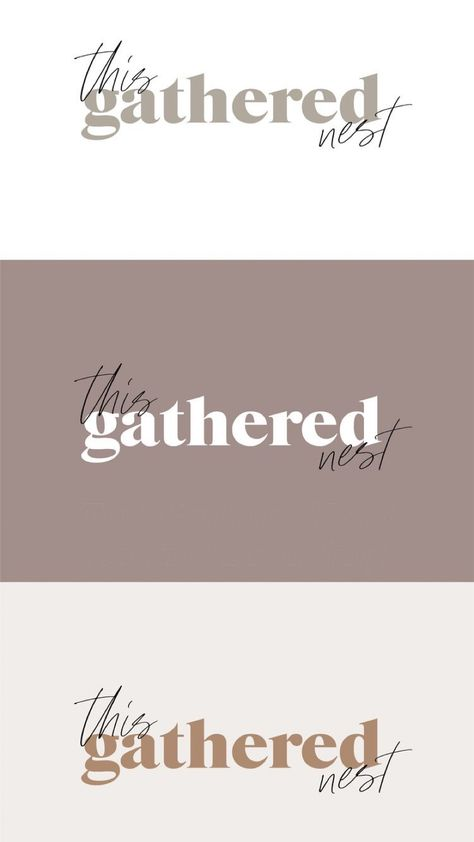 This Gathered Nest Neutral Branding
