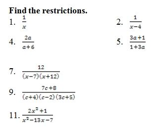 Simplify Rational Expressions Worksheet (pdf) with Answer