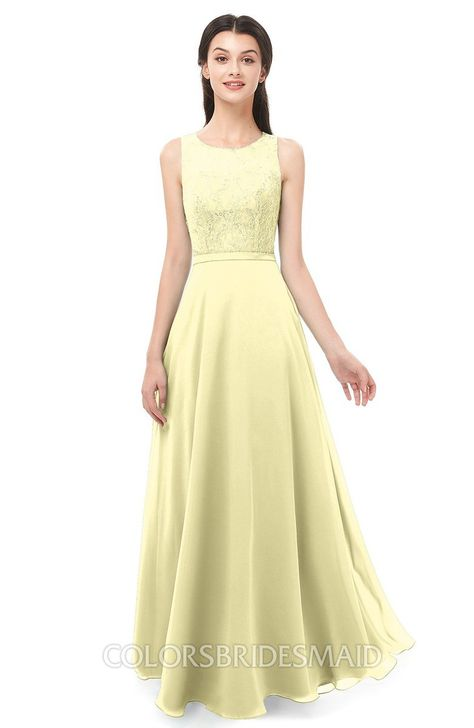 colorsbridesmaid.com offers Bridesmaid Dresses Sleeveless Bateau Lace Simple Floor Length Half Backless at a discount price. It's A-line, Chiffon, Floor Length, Lace, can be a Bridesmaid Dresses